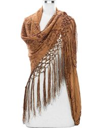 Patricia Nash | Amelia Map Scarf With Tassel Edging | Lyst