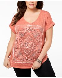 Style & Co. - Plus Size Graphic Dolman-sleeve T-shirt, Created For Macy's - Lyst