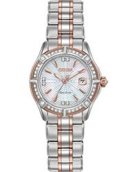 cf51b41bdce Citizen - Women s Signature Diamond Accent Two-tone Stainless Steel  Bracelet Watch 29mm Ew2276-