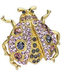 Charter Club Gold-tone Crystal Bug Pin, Created For Macy's - Metallic