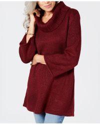 Karen Scott - Cowl-neck 3/4-sleeve Sweater, Created For Macy's - Lyst