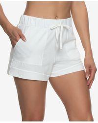 Felina Organic Cotton Loungewear Shorts - White
