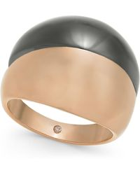 Alfani Two-tone Wide Ring, Created For Macy's - Metallic