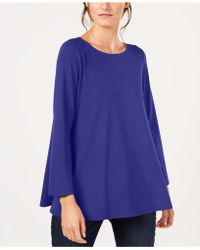 Eileen Fisher - Stretch Jersey Ballet-neck Swing Tunic, Created For Macy's - Lyst