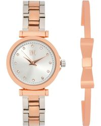 INC International Concepts - Two-tone Bracelet Watch 28mm Gift Set, Created For Macy's - Lyst