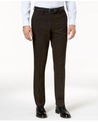 Kenneth Cole Reaction - Men's Slim-fit Stretch Glen Plaid Dress Pants - Lyst