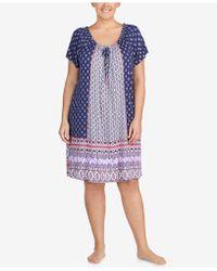 Ellen Tracy - Plus Size Short Sleeve Sleepshirt - Lyst