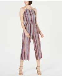 19 Cooper - Striped Cropped Jumpsuit - Lyst