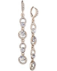 Givenchy - Gold-tone Crystal Linear Drop Earrings - Lyst