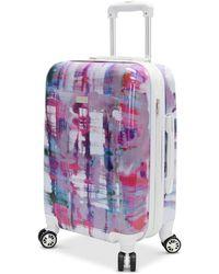 "Steve Madden - Plaid 24"" Expandable Hardside Spinner Suitcase - Lyst"