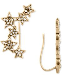 RACHEL Rachel Roy - Gold-tone Pavé Stars Crawler Earrings - Lyst