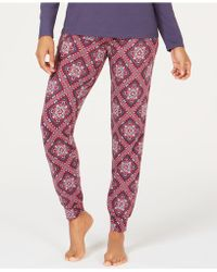 Charter Club Printed Pajama Jogger Pants, Created For Macy's - Red