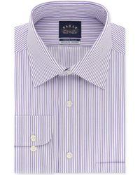 Eagle - Classic/regular Fit Non-iron Flex Collar Stripe Dress Shirt - Lyst