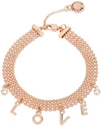 BCBGeneration - 'love' Affirmation Charm Mesh Bracelet - Lyst