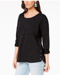 Style & Co. - Flecked Side Lace-up Top, Created For Macy's - Lyst
