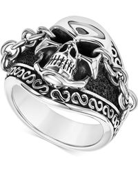 Scott Kay - Men's Skull & Chain Ring In Sterling Silver - Lyst