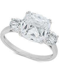 Macy's - Arabella Swarovski Zirconia Statement Ring In Sterling Silver - Lyst