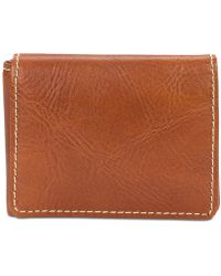 Patricia Nash Men's Leather L-fold Wallet - Brown