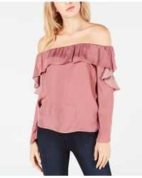 1.STATE - Off-the-shoulder Ruffle Top - Lyst