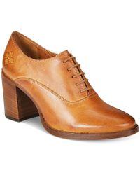 Patricia Nash - Anna Block-heel Oxford Booties - Lyst