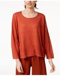 Eileen Fisher - Organic Linen Top - Lyst