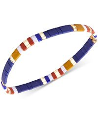 Zenzii - Striped Beaded Stretch Bracelet - Lyst