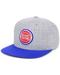 Mitchell & Ness - Detroit Pistons 2 Tone Classic Snapback Cap - Lyst
