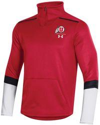 Under Armour Utah Utes Team Issue Quarter-zip Pullover - Red