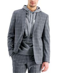 Armani Exchange Slim-fit Suit Jcket - Gray