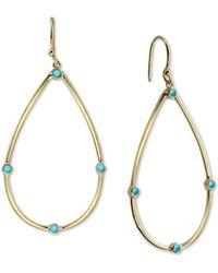 dd386dbea Lauren by Ralph Lauren 14k Goldtone Reconstituted Turquoise Chandelier  Earrings in Blue - Lyst