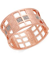INC International Concepts - I.n.c. Gold-tone Crystal Chequered Bangle Bracelet, Created For Macy's - Lyst