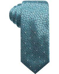 Alfani - Abstract Geometric & Dot Slim Silk Tie, Created For Macy's - Lyst