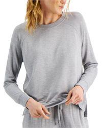 Alfani Ultra-soft Crew Neck Pyjama Top, Created For Macy's - Grey