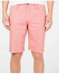 """INC International Concepts 10"""" Derryl Chambray Shorts, Created For Macy's - Pink"""