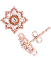 Wrapped in Love - Diamond Star Stud Earrings (1/3 Ct. T.w.) In 14k Rose Gold - Lyst