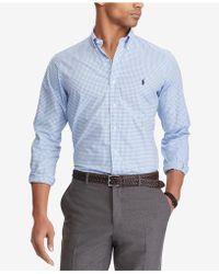 7e293262a Lyst - Polo Ralph Lauren Men's Checked Oxford Shirt in Orange for Men