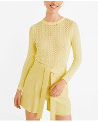Mango Bow Flowy Shorts - Yellow