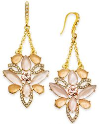 INC International Concepts - I.n.c. Gold-tone Pavé & Colored Stone Chandelier Earrings, Created For Macy's - Lyst