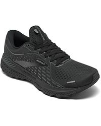 Brooks Adrenaline Gts 21 Running Sneakers From Finish Line - Black