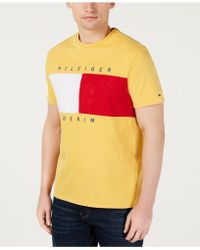 923212ab Tommy Hilfiger - Beason Colorblocked Logo Graphic T-shirt, Created For  Macy's - Lyst