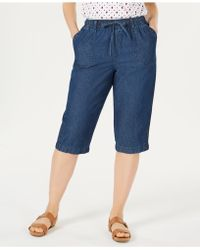 Karen Scott - Denim Capri Pants, Created For Macy's - Lyst