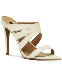 BCBGMAXAZRIA Alexa Dress Sandals - White
