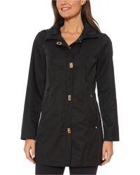 Jones New York Jones New York Petite Hooded Raincoat - Black