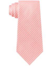 Calvin Klein Slim Dotted Grid Tie - Pink