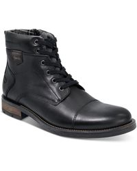 Alfani Jack Cap Toe Boots, Created For Macy's - Black