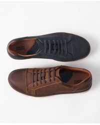 Johnston & Murphy - Walden Cap-toe Suede Lace-up Trainers - Lyst
