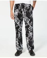 INC International Concepts Abstract Floral Drawstring Trousers, Created For Macy's