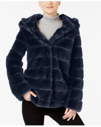 Laundry by Shelli Segal - Hooded Faux-fur Coat - Lyst