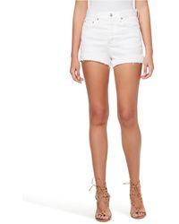 Jessica Simpson Infinite High-waist Denim Shorts - White