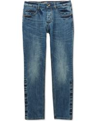 Seven7 Belmore Slim Straight-fit Power Stretch Jeans With Magnetic Fly And Stay-put Closure - Blue